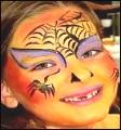 Kinderschminken Spinne Schlange Bild Motiv Vorlage Anleitung Kinderschminken
