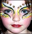 Kinderschminken Fantasie Auge Schmuck Ornament Bild Motiv Vorlage Anleitung Kinderschminken